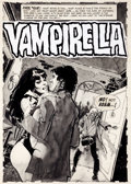 "Original Comic Art:Splash Pages, Jose Gonzalez Vampirella #13 ""Lurker In The Deep"" SplashPage 1 Original Art (Warren, 1971)...."