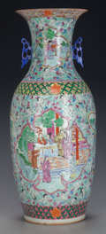 Asian:Chinese, A CHINESE PORCELAIN VASE. 22-3/4 inches high (57.8 cm). ...