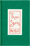Books:Fiction, Max Apple. Three Stories. Dallas: Pressworks, [1983]. First Edition. Edition limited to 226 copies. Signed by the ...