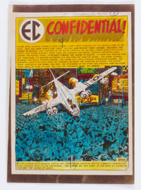 """EC Weird Science #21 """"EC Confidential!"""" Complete Story Silverprint Proof Group (EC, 1953).... (Total: 8 Items)"""