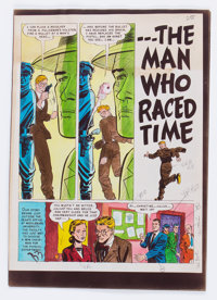 """EC Weird Science #13 (#2) """"...The Man Who Raced Time"""" Complete Story Silverprint Proof Group (EC, 1950).... (T..."""