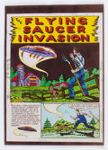 """Memorabilia:Comic-Related, EC Weird Science #13 (#2) """"Flying Saucer Invasion"""" Complete Story Silverprint Proof Group (EC, 1950).... (Total: 8 Items)"""