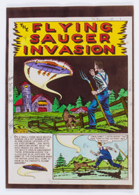 """EC Weird Science #13 (#2) """"Flying Saucer Invasion"""" Complete Story Silverprint Proof Group (EC, 1950).... (Tota..."""
