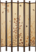 Miscellaneous, A SIX-PANEL BUTTERFLY COLLAGE FLOOR SCREEN, 20th century. 84 inches high x 60 inches wide (213.4 x 152.4 cm). ...