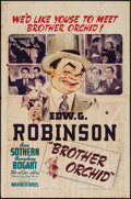 "Movie Posters:Crime, Brother Orchid (Warner Brothers, 1940). One Sheet (27"" X 41"").Crime.. ..."