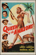 "Movie Posters:Adventure, Queen of the Amazons (Screen Guild Productions, 1947). One Sheet(27"" X 41""). Adventure.. ..."