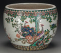 Asian:Chinese, A CHINESE POLYCHROME PORCELAIN FISHBOWL. 12-3/4 inches high x 15inches diameter (32.4 x 38.1 cm). ...