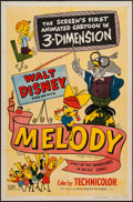 "Movie Posters:Animation, Melody (RKO, 1953). One Sheet (27"" X 41"") 3-D Style. Animation....."