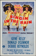 "Movie Posters:Musical, Singin' in the Rain (MGM, R-1962). Autographed One Sheet (27"" X 41""). Musical.. ..."