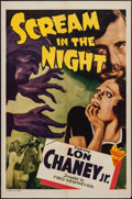 """Movie Posters:Crime, Scream in the Night (Astor Pictures, R-1943). One Sheet (27"""" X 40""""). Crime.. ..."""