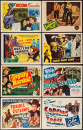 "Movie Posters:Western, Prairie Outlaws & Others Lot (PRC, 1948). Title Lobby Cards (5) & Lobby Cards (10) (11"" X 14""). Western.. ... (Total: 15 Items)"