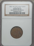Civil War Patriotics, Undated Wealth of the South MS62 NGC. Fuld-511/513b....