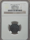 Civil War Merchants, Undated Fred A. Plum, Troy, New York, MS64 NGC. Fuld-NY890C-1h.Black rubber....