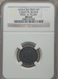 Civil War Merchants, Undated Fred A. Plum, Troy, New York, MS63 NGC. Fuld-NY890C-2h,S-820-P5. Black rubber....