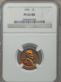 Proof Sets, 1941 Proof Set NGC. This set includes: 1C PR65 Red and Brown, 5C PR64, 10C PR66, 25C PR65 CAC, 50C PR65 CAC.... (Total: 5 coins)