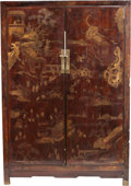 Asian:Chinese, A CHINOISERIE GILT AND LACQUERED CABINET, 20th century. 66-3/4 x46-1/4 x 19-1/2 inches (169.5 x 117.5 x 49.5 cm). ...