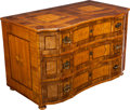 Furniture , A CONTINENTAL NEOCLASSICAL WALNUT, BURL WALNUT AND FRUITWOOD PARQUETRY COMMODE, circa 1860. 31 x 48-1/2 x 27 inches (78.7 x ...