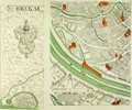 Books:Maps & Atlases, [Maps]. Ten Leaf Lithographic Map of Bruges. Published in the Summer, 1969 issue of Horizon magazine. ...