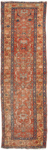 Asian:Other, A BAKHTIARI WOOL RUNNER RUG. 124 inches long x 34-1/8 inches wide(315.0 x 86.7 cm). ...