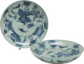Asian:Chinese, A PAIR OF CHINESE PORCELAIN CHARGERS. 4 inches high x 22-1/2 inchesdiameter (10.2 x 57.2 cm). ... (Total: 2 Items)