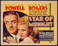 """Movie Posters:Mystery, Star of Midnight (RKO, 1935). Title Lobby Card (11"""" X 14""""). Mystery.. ..."""