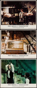 """Movie Posters:Horror, Andy Warhol's Frankenstein (Bryanston, 1974). Lobby Cards (3) (11"""" X 14""""). Horror.. ... (Total: 3 Items)"""