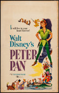 "Movie Posters:Animation, Peter Pan (Buena Vista, R-1958). Window Card (14"" X 22""). Animation.. ..."