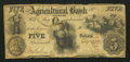 Obsoletes By State:Tennessee, Brownsville, TN- Agricultural Bank of Tennessee $5 Sep. 1, 1855. ...