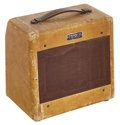 Musical Instruments:Amplifiers, PA, & Effects, 1953 Fender 600 Tweed Guitar Amplifier, Serial # 5713....