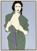 Paintings, PATRICK NAGEL (American, 1945-1984). Trench Coat, Playboy illustration. Acrylic on board. 19 x 14 in. (sight). Signed lo...