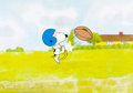 Animation Art:Production Cel, The Charlie Brown and Snoopy Show Snoopy Production Cel(Bill Melendez, 1982)....