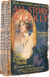 Argosy-All Story Weekly Group (Munsey, 1917-30) Condition: Average VG.... (Total: 4 Items)