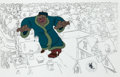 Animation Art:Production Cel, Mickey's Christmas Carol Willie the Giant Past ProductionCel (Walt Disney, 1983)....