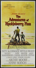 "Movie Posters:Adventure, The Adventures of Huckleberry Finn (MGM, 1960). Three Sheet (41"" X81""). Adventure. ..."