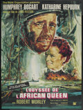 """Movie Posters:Adventure, The African Queen (Rank, R-1965). French Grande (45.5"""" X 61.5"""").Adventure. ..."""