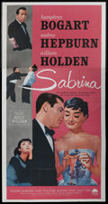 "Movie Posters:Romance, Sabrina (Paramount, R-1962). Three Sheet (41"" X 81""). Romance. ..."