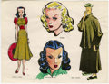Original Comic Art:Miscellaneous, Milton Caniff - Hand-Colored Character Print (undated)....
