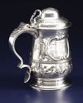 Silver Holloware, British:Holloware, A George III Silver Presentation Tankard. William Shaw and WilliamPriest, London, England. Circa 1759-1760. Silver. Marks...