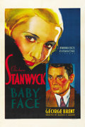 "Movie Posters:Drama, Baby Face (Warner Brothers, 1933). One Sheet (27"" X 41""). ..."
