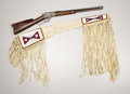 American Indian Art:Weapons, A BLACKFEET BEADED HIDE GUN CASE. . c.1910... (Total: 2 Items)