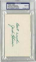 Autographs:Index Cards, Jackie Robinson Signed Index Card, PSA Mint 9. The man whointegrated baseball when he crossed the color barrier for the Br...