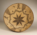 American Indian Art:Baskets, AN APACHE PICTORIAL COILED BOWL. . c. 1910. ...