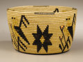 American Indian Art:Baskets, A PANAMINT PICTORIAL POLYCHROME COILED BASKET . MARY WRINKLE. . c.1935. ...