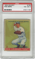 Baseball Cards:Singles (1930-1939), 1933 Goudey Moe Berg #158 PSA VG-EX 4. A true Renaissance man, MoeBerg was one of the most intellectually well-rounded pla...