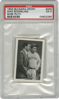 Baseball Cards:Singles (1930-1939), 1932 Bulgaria Sport Babe Ruth #256 PSA EX 5. Tough card issued inGermany in 1932 is the only one of the 272-card set to fe...