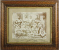 "Baseball Collectibles:Photos, 1895 Warren Baseball Club Imperial Cabinet Photograph FeaturingHonus Wagner. In a journalistic gaffe rivaling the ""Dewey B..."