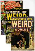 Golden Age (1938-1955):Horror, Adventures Into Weird Worlds #7 and 8 Group (Atlas, 1952) ....(Total: 3 Comic Books)