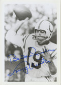 "Football Collectibles:Photos, Johnny Unitas Signed Photograph. A 3x5"" black and white photograph with the clear and succinct signature of one or the grea..."