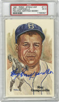 Autographs:Post Cards, Roy Campanella Signed Perez-Steele Postcard PSA EX 5. Campy offersa tremendous example of his Hall of Fame signature to th...