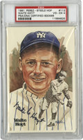 Autographs:Post Cards, Waite Hoyt Signed Perez-Steele Postcard PSA VG-EX 4. Waite Hoyt haschecked in on the offered postcard from the Perez-Steel...
